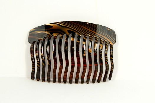 Black/Gold Swirl Side Comb
