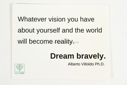 Whatever vision you have about yourself and the world will become reality - Dream bravely