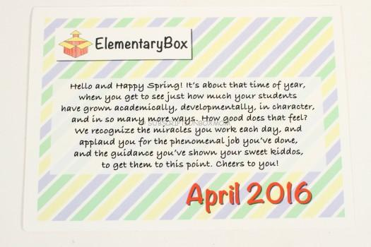 April Box Introduction