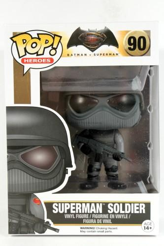 Funko POP Heroes: Batman vs Superman - Superman Soldier Action Figure FunKo