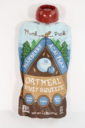 Blueberry Acai Flax Oatmeal Fruit Squeeze by Munk Pack