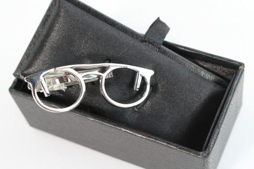 Gentleman's Box Eye Glass Tie Clip