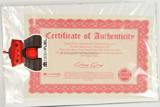 Certificate of Authenticity.