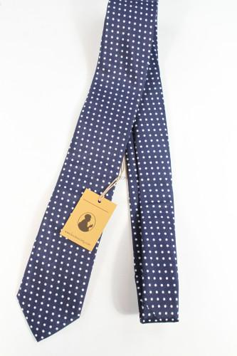 Knot Society Navy Polka Dot Tie