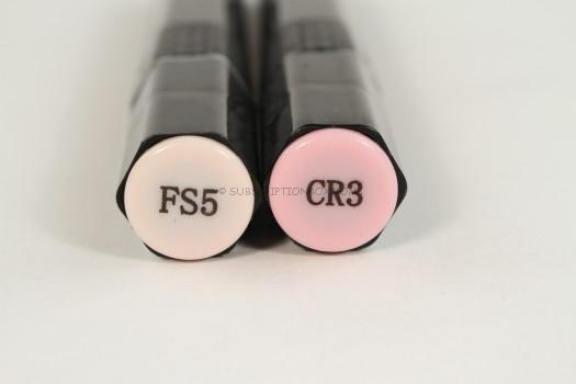 FS5 (an Ivory) and CR3 (a pretty pink).