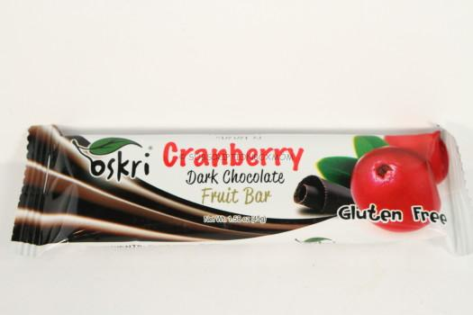 Oskri Cranberry Dark Chocolate Fruit Bar