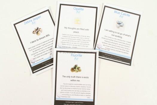 crystal information card