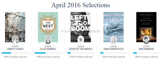 April 2016 Selections