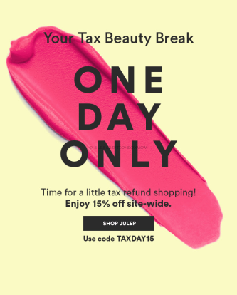 Julep Tax Day 2016 Sale