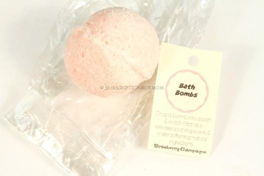 Blue Blossom Bath Bomb in Strawberry Champagne