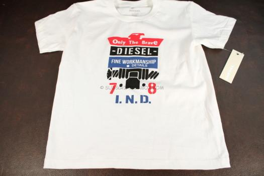 Diesel Boys Crew Neck Graphic Tee