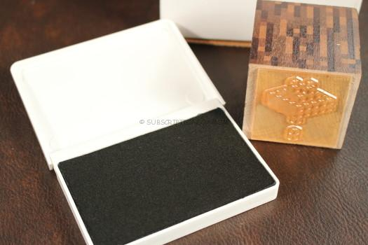 Wooden Stamp and Ink Pad