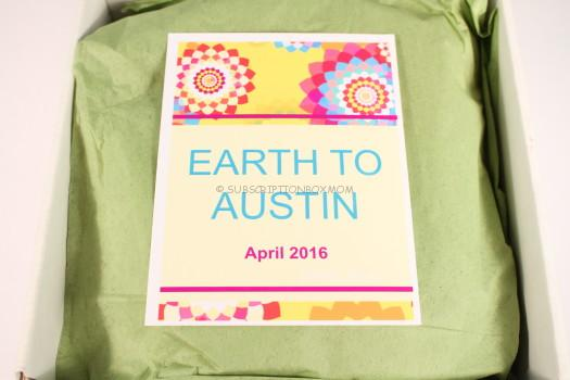 Earth to Austin