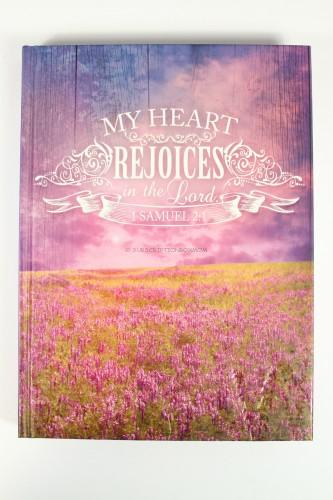 """My Heart Rejoices"" Hardcover Journal - 1 Samuel 2:1"