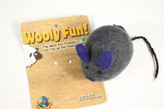 One Pet Planet Wooly Fun Big Mouse Toy