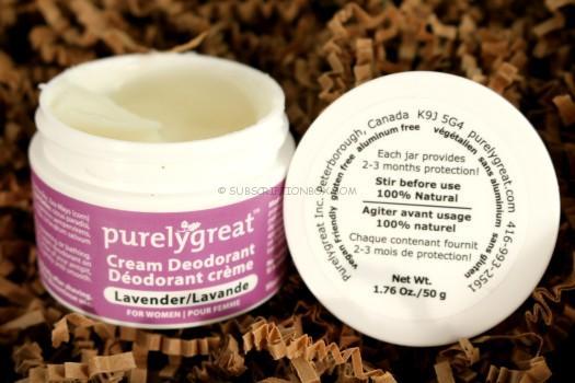 Purelygreat Lavender Cream Deodorant