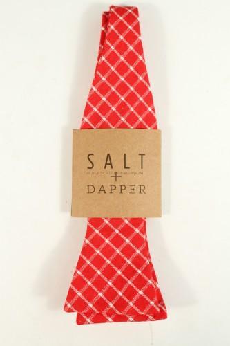 Salt + Dapper Plaid Bow Tie