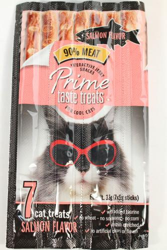 Prime Taste Treats Salmon Jerky Treat for Cats
