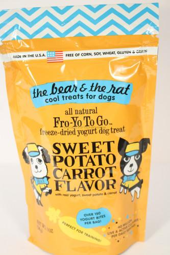 The Bear & The Rat Fro-Yo To Go Freeze-Dried Yogurt Dog Treats - Sweet Potato Carrot