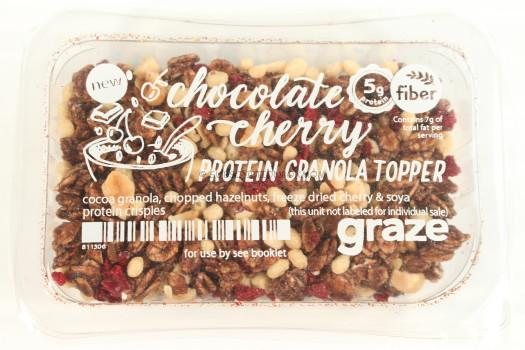 Chocolate Cherry Protein Granola Topper