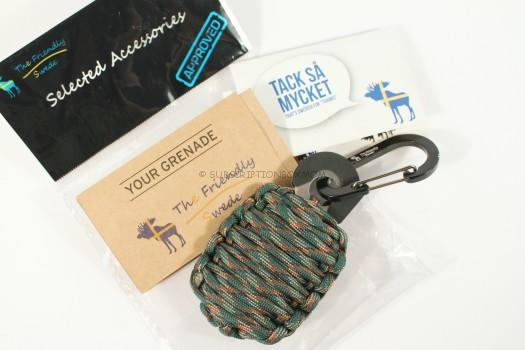 "The Friendly Swede (TM) Carabiner ""Grenade"" Survival Ki"
