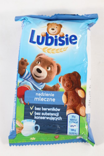 Lubisie Mini Teddy Bear Milk Flavored Cookie Biscuit
