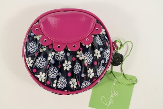 Vera Bradley Frill Collection Peek-a Boo Coin Purse in Boysenberry