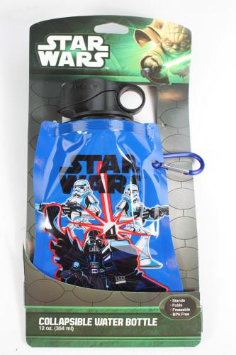 Star Wars 12 oz Collapsible Water Bottle, Multicolor