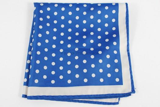 Piccini Horizon Blue Polka Dot Pocket Square