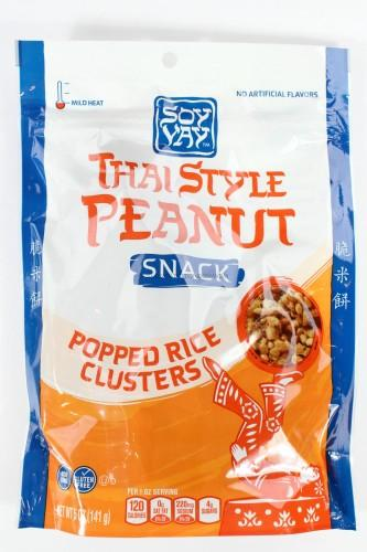 Soy Vay Thai Style Peanut Snack Popped Rice Clusters