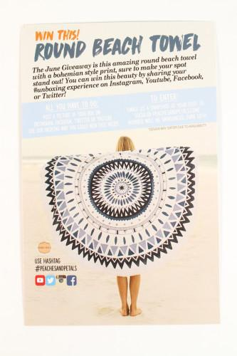 Round Beach Towel giveaway