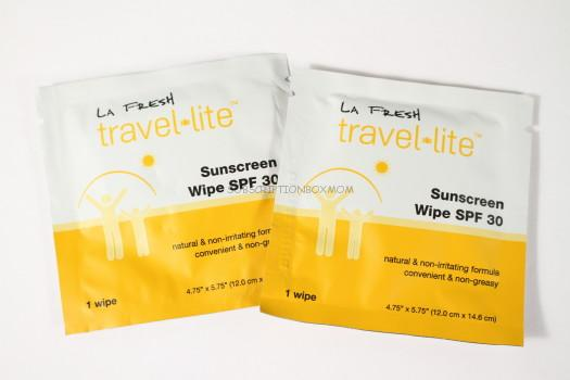 La Fresh Sunscreen Wipes Sample