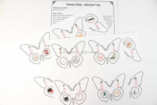 Rhyming Wings - Matching Game