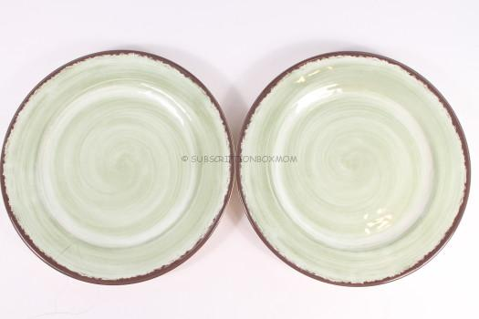 Melamine Snack Plates in Amber, Fireball or Jade