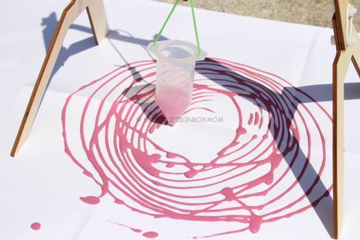 Purple Spiral Art Project