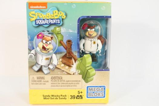 Megabloks Spongebob Squarepants Sandy Wacky Pack Building Playset