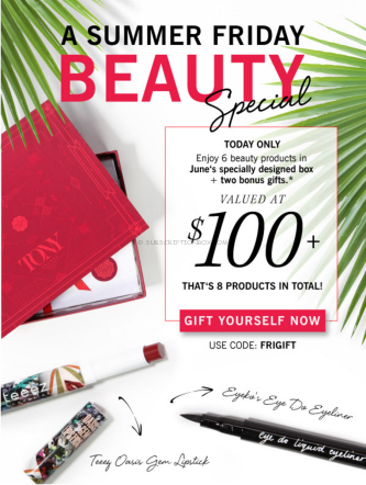 Free Glossybox Gifts with Subscription