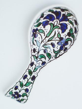Hand-Painted Spoon Rest, Palestinian Territories