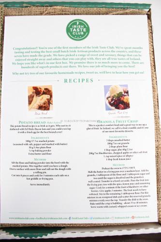 Irish Taste Club Recipes