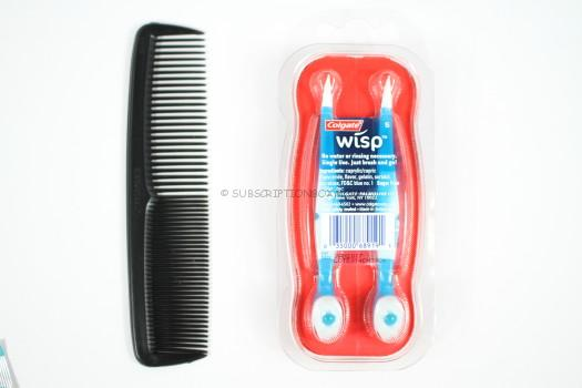 Comb and Colgate Wisp