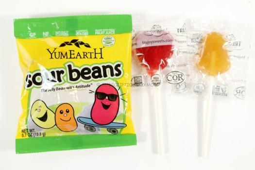 YumEarth Sour Beans and Suckers