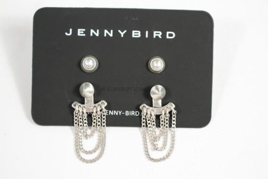 Jenny Bird Lezark Ear Jacket in Silver