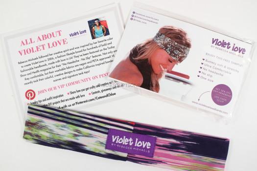 violet love headband