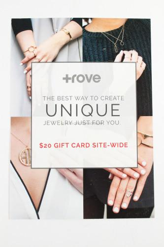 """Trove Jewelry $20 Coupon """"Gift Card"""""""