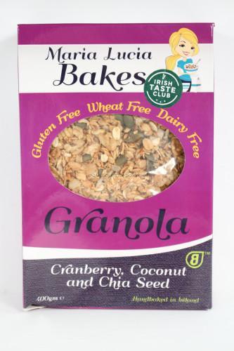 Maria Lucia Bakes Cranberry Coconut & Chia Seed Granola