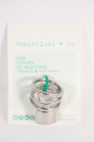 Wanderlust + Co XL Barrel Silver ring