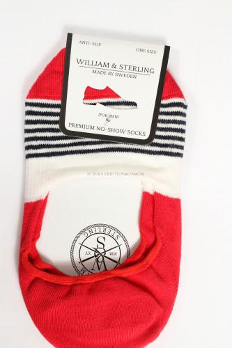William & Sterling No Show Socks