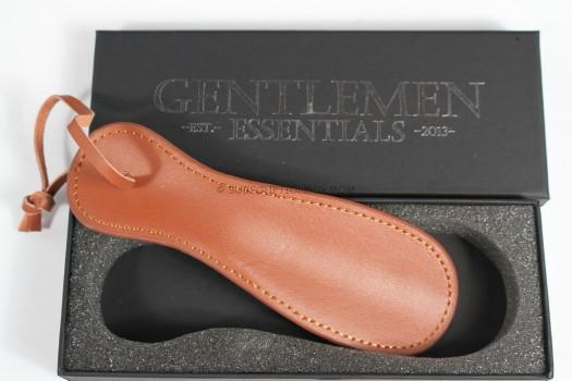 Gentlemen Essentials Leather Shoehorn