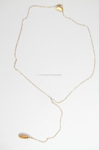 Robyn Rhodes Lily Druzy Lariat Necklace