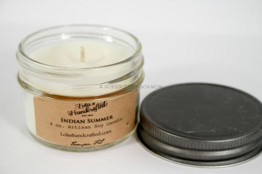 Lola's Handmade Candle Co Indian Summer handcrafted soy candle